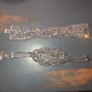 Jewelry - *LIKE NEW* STATEMENT PIECE silver bracelets